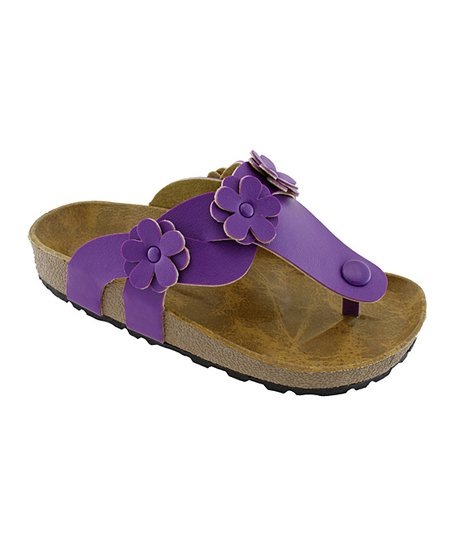 Purple Flower Sandal