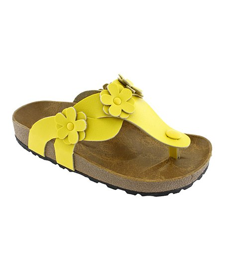 Yellow Rk-48 Flower Sandal