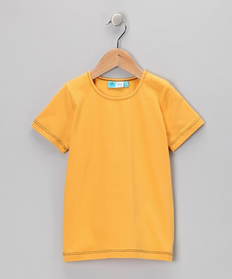 Yellow & Black Organic Tee - Infant, Toddler & Kids