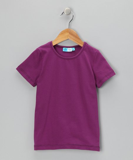 Purple & Black Organic Tee - Infant, Toddler & Kids