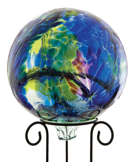 Blue 10'' Kitras Gazing Ball & Stand
