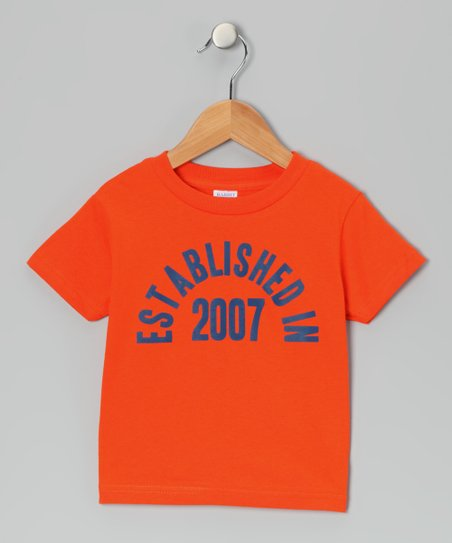 Orange &#039;Established in 2007&#039; Tee - Boys