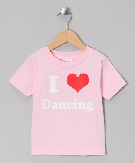 Light Pink &#039;I Love Dancing&#039; Tee - Toddler &amp; Girls