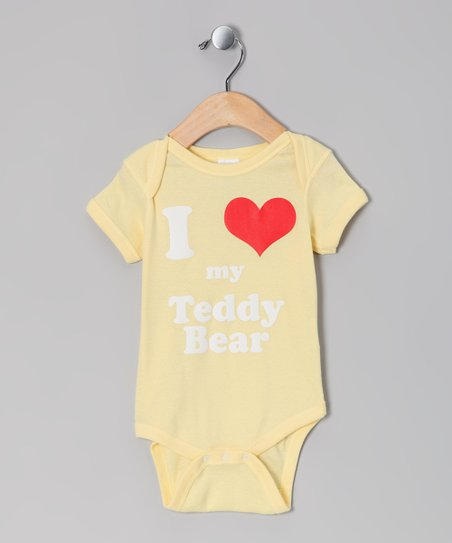Banana 'I Love My Teddy Bear' Bodysuit - Infant