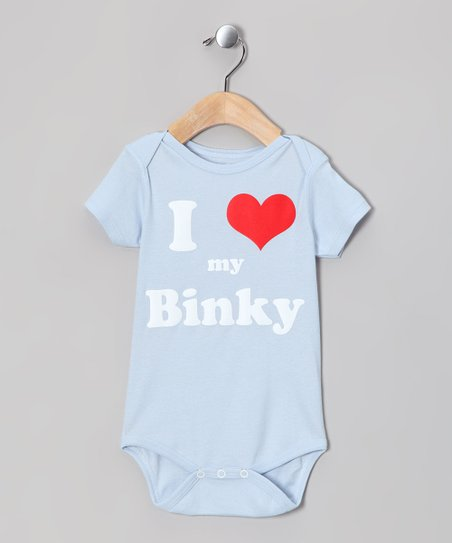 Light Blue 'I Love my Binky' Bodysuit