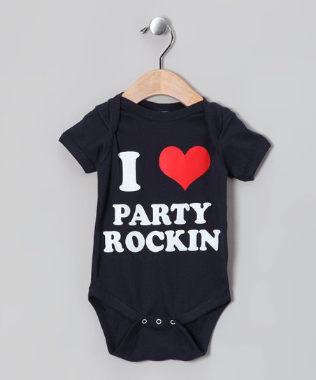 Navy 'I Love Party Rockin' Bodysuit - Infant