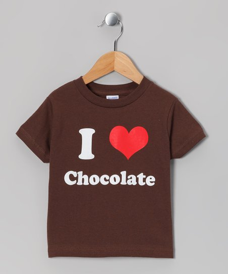Brown 'I Love Chocolate' Tee - Toddler & Kids