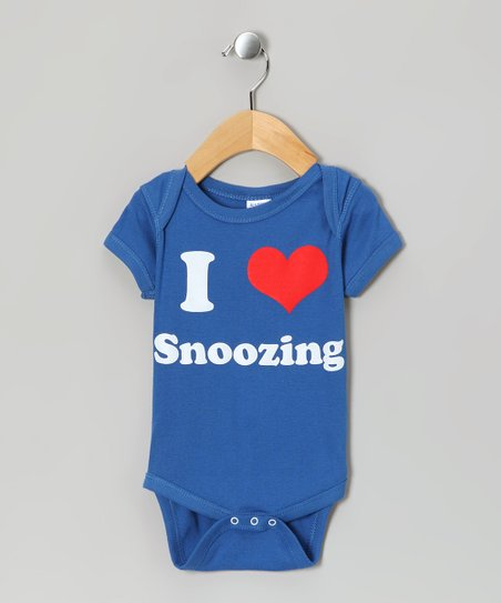 Royal Blue 'I Love Snoozing' Bodysuit - Infant