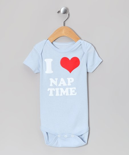 Light Blue 'I Love Nap Time' Bodysuit - Infant
