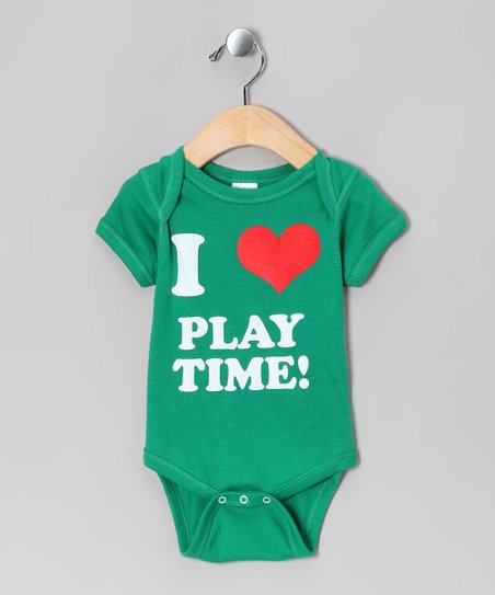 Kelly Green 'I Love Playtime!' Bodysuit