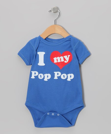 Blue 'I Love My Pop Pop' Bodysuit - Infant