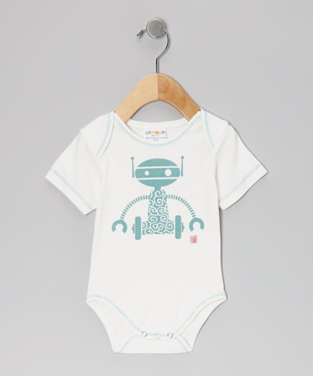 Blue Robot Organic Bodysuit - Infant