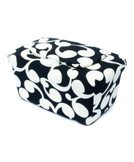 Black & Cream Vine WipesWraps Baby Wipes Cover