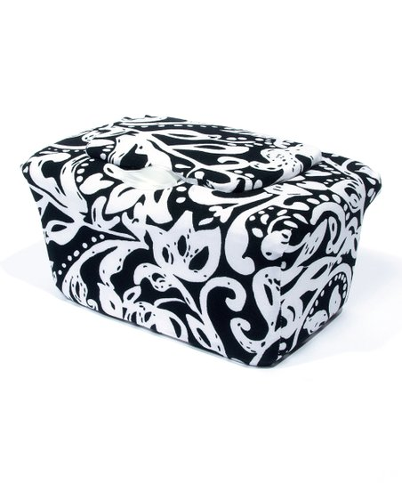 Black &amp; White Abstract WipesWraps Baby Wipes Cover