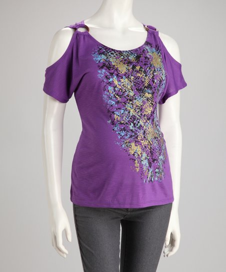 Orchid Kiss Snakeskin Maternity Cutout Top