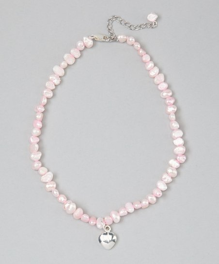 Pink Pearl & Heart Necklace