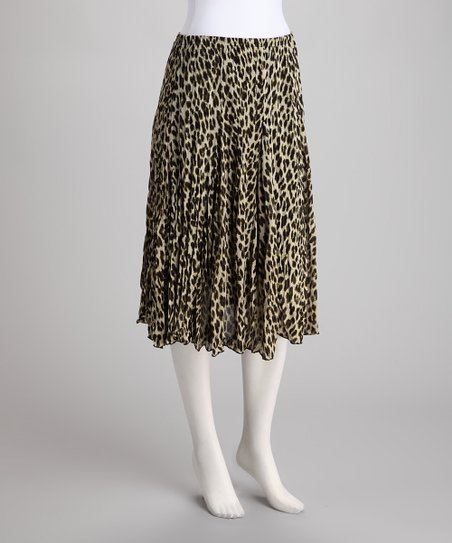 Natural Safari Crinkle Skirt
