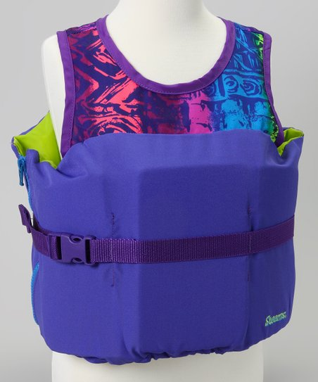 Purple Aztec Pullover Life Jacket - Kids