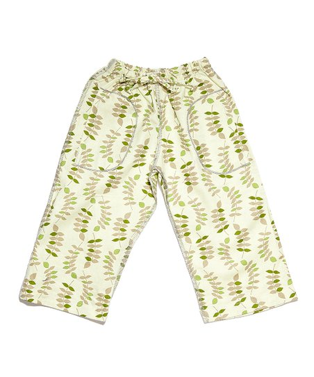 Green Leaves Linen Pants - Infant &amp; Toddler