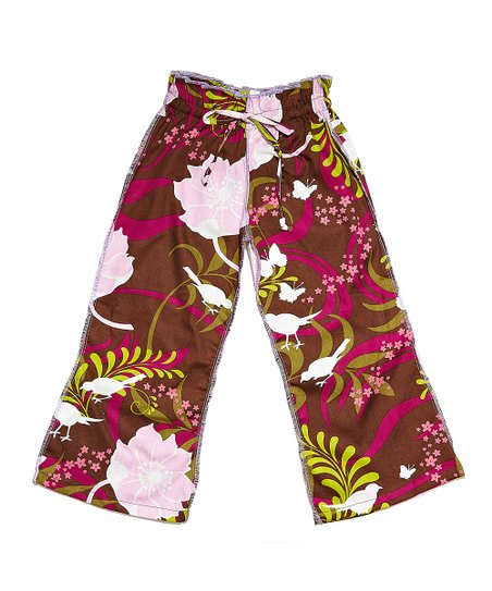 Brown Bird Floral Ceca Pants - Infant & Toddler