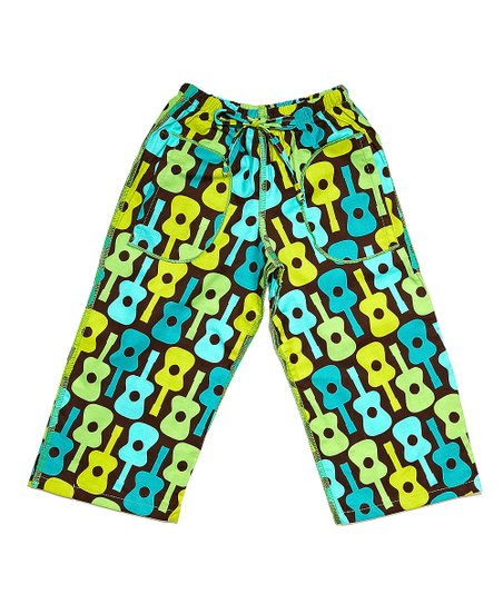 Turquoise Guitar Ceca Pants - Infant, Toddler & Girls