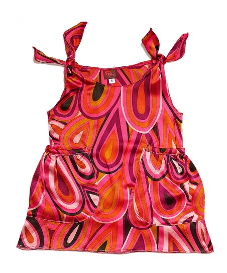 Pink Peacock Silk Dress - Infant & Toddler
