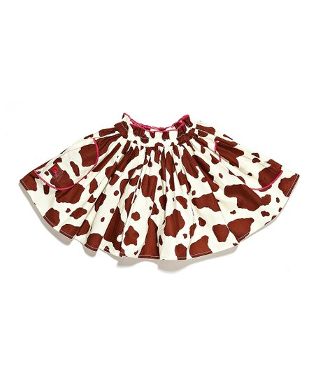Brown Cow Skirt - Toddler & Girls