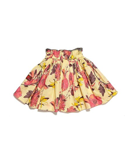 Purple & Pink Floral Skirt - Infant, Toddler & Girls