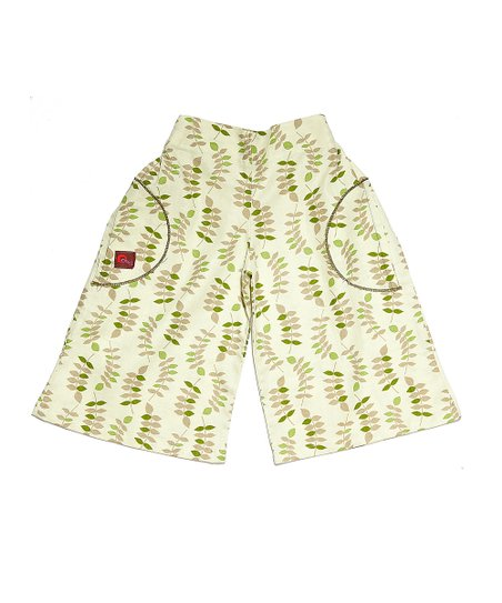 Green Leaves Linen Palazzo Pants - Toddler & Girls