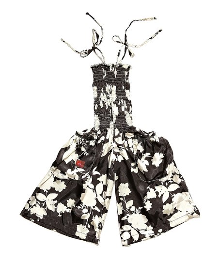 Black & White Floral Jumpsuit - Infant, Toddler & Girls