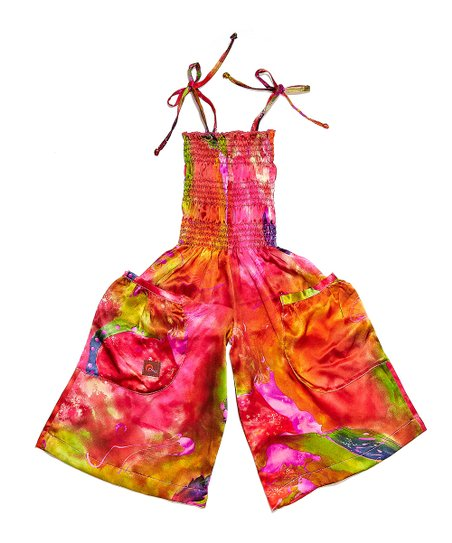Pink Fusion Silk Jumpsuit - Infant, Toddler & Girls