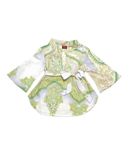 Lilac & Gold Paisley Tunic - Infant & Toddler