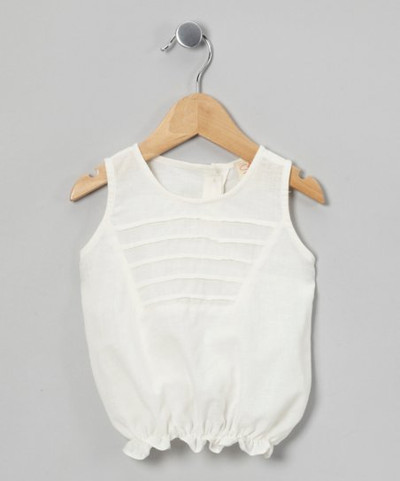 White Bubble Top - Infant, Toddler & Girls