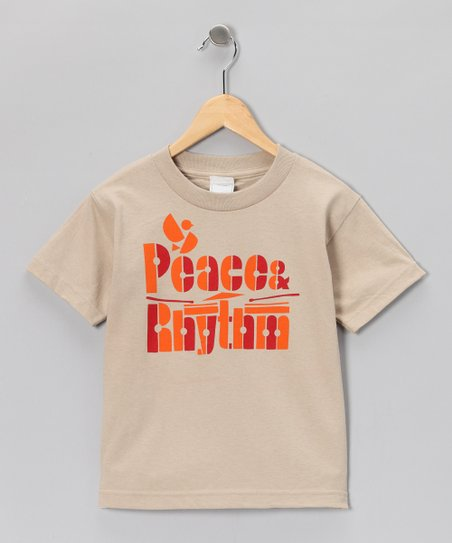 Sand 'Peace & Rhythm' Tee - Toddler & Boys
