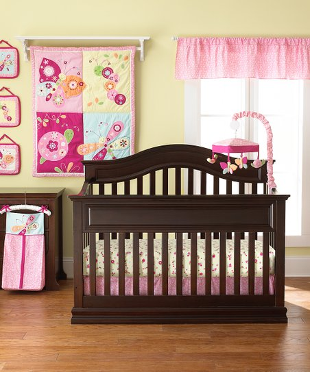 Floral Flutter 8-Piece Crib Bedding Set
