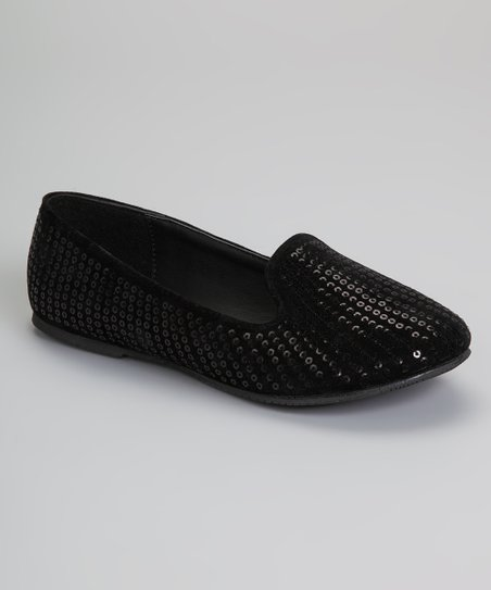 Black Sequin Capo Loafer