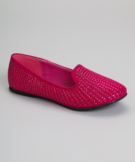 Fuchsia Sequin Capo Loafer