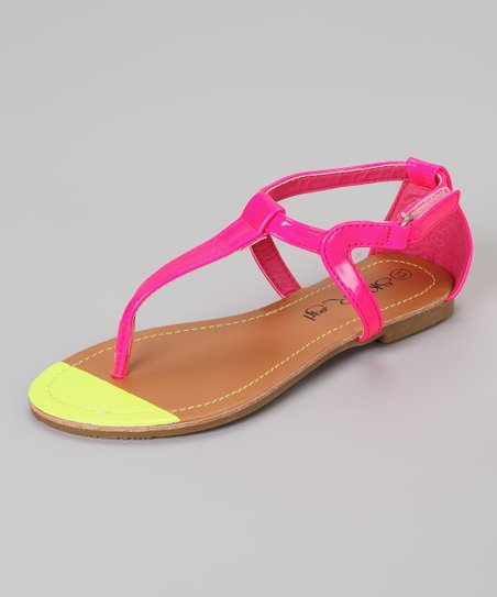 Fuchsia & Yellow Sandal