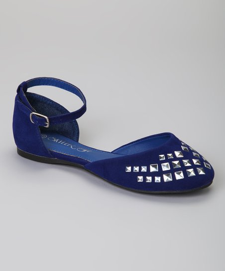Blue Studded Carry Flat