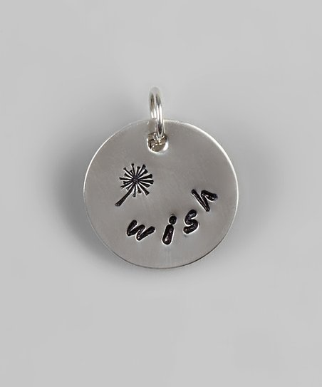 Sterling Silver ‘Wish’ Round Pendant