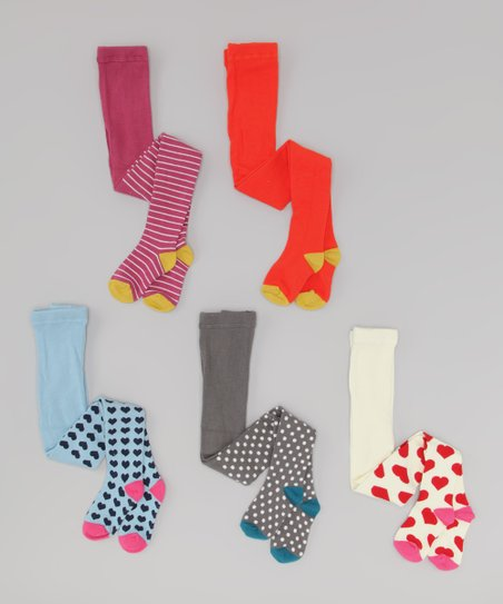 Assorted Organic Tights - Set of Two