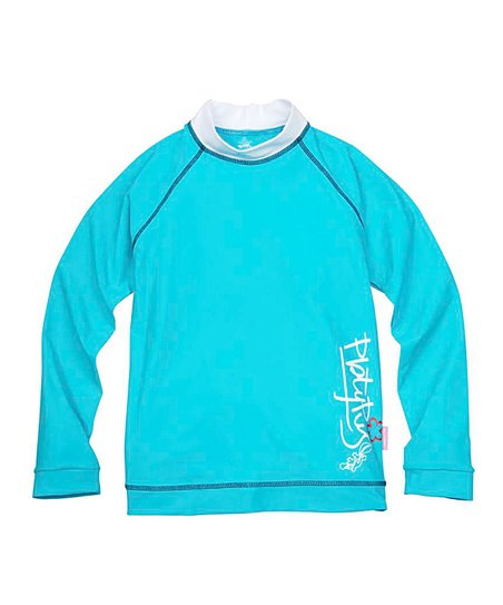 Aqua Long-Sleeve Rashguard - Kids