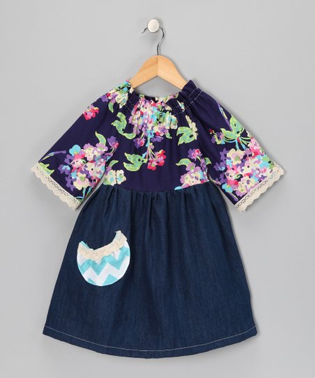 Blue Lexi Pocket Dress - Toddler & Girls