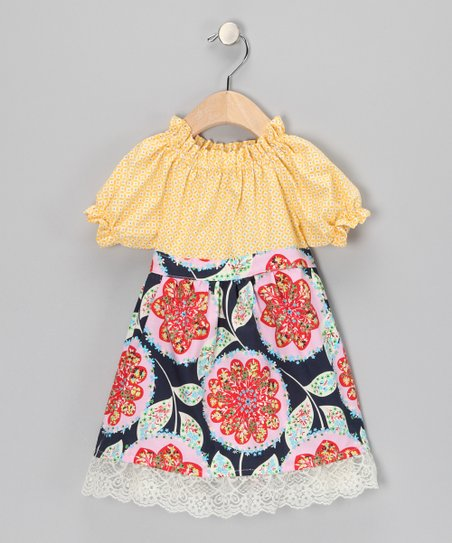 Yellow Charisma Ruffle Dress - Toddler & Girls