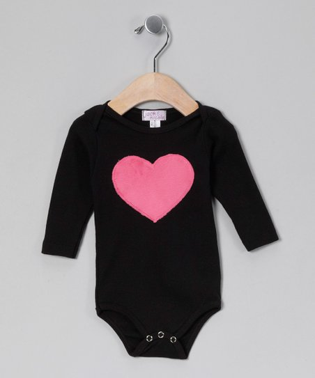 Black Heart Bodysuit - Infant