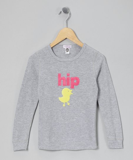 Gray Hip Chick Thermal - Infant & Girls