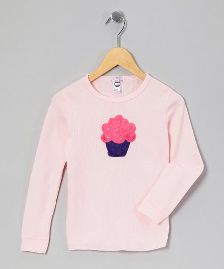 Pink Cupcake Thermal - Girls