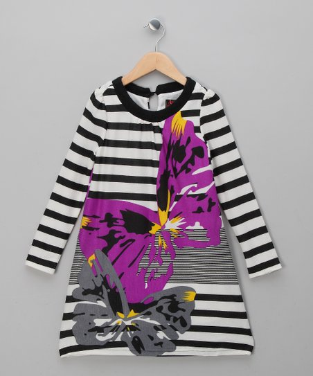 Purple Stripe Butterfly Dress