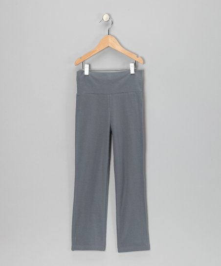 Charcoal Gray Yoga Pants - Toddler & Girls