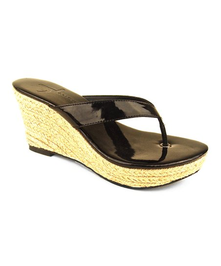 Black Patent Aruba Wedge